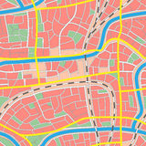 Seamless map unknown city. Stock Photo