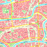 Seamless map unknown city with names. Stock Photography