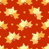 Seamless maple leafs pattern Royalty Free Stock Photo