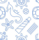 Seamless marine background Royalty Free Stock Image