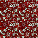 Seamless marine pattern Stock Photography