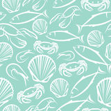 Seamless marine pattern Stock Image