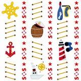 Seamless marine pattern Royalty Free Stock Photo