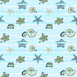 Seamless marine texture Royalty Free Stock Image