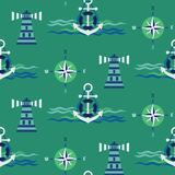 Seamless maritime pattern Royalty Free Stock Photography