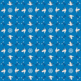 Seamless maritime pattern Royalty Free Stock Photos