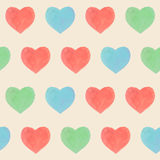 Seamless marker heart pattern. Seamless marker color heart pattern Stock Image