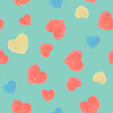 Seamless marker heart pattern. Seamless marker color heart pattern Stock Photo