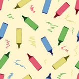 Seamless markers Royalty Free Stock Photos