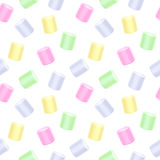 Seamless marshmallow pattern - white back. Royalty Free Stock Image