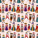Seamless mask party pattern. Vector drawing Royalty Free Stock Photography