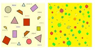 seamless matematik royaltyfri illustrationer
