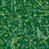 Seamless matematik mönstrar stock illustrationer