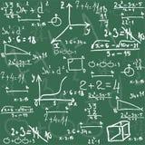 Seamless math elements on school board. Stock Photos
