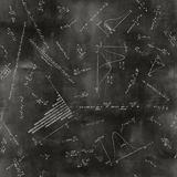 Seamless math physics formulas on chalkboard Royalty Free Stock Images