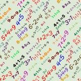 Seamless mathematical pattern Royalty Free Stock Photo