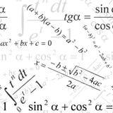 Seamless mathematical pattern Royalty Free Stock Photos