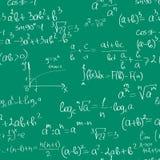 Seamless maths pattern stock illustration