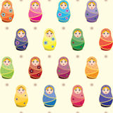 Seamless matryoshkas pattern Stock Image