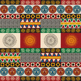Seamless mayan, aztec pattern. In colors Royalty Free Stock Photo