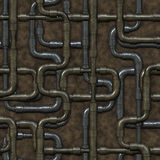 Seamless maze of plumbing pipes. Stock Photography