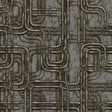 Seamless maze of plumbing pipes. Royalty Free Stock Photos