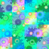 Seamless mechanics colorful background Royalty Free Stock Photos