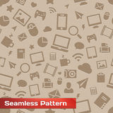 Seamless Media Pattern Royalty Free Stock Image