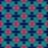 Seamless medical abstract pattern with crosses and square on blue background. Vector illustration. Royalty Free Stock Image
