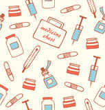 Seamless medical pattern. Hospital instrument. Healthy. Pharmacy. Drugstore background Royalty Free Stock Photo