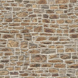 Seamless Medieval brick wall Stock Image