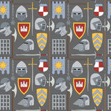 Seamless medieval pattern number one Royalty Free Stock Image