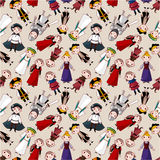 Seamless medieval people pattern. Vector illustration Royalty Free Stock Photography