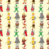 Seamless medieval people pattern Royalty Free Stock Photography