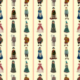 Seamless Medieval people pattern Stock Photography