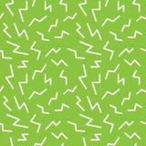 Seamless memphis thunderbolt pattern. Trendy and modern geometri. C elements, vector illustration Stock Photo