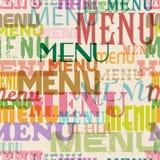 Seamless menu pattern Stock Photography