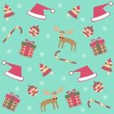 Seamless merry christmas background Stock Photos