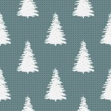 Seamless Merry Christmas Festive Pattern with Tree. Seamless Pattern of Christmas Tree, Modern  and Creative Festive Textile, Gift Wrap, Wall Art Design, Merry Royalty Free Stock Photo