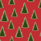 Seamless Merry Christmas Festive Pattern with Tree. Seamless Pattern of Christmas Tree, Modern  and Creative Festive Textile, Gift Wrap, Wall Art Design, Merry Royalty Free Stock Image