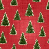 Seamless Merry Christmas Festive Pattern with Tree. Seamless Pattern of Christmas Tree, Modern  and Creative Festive Textile, Gift Wrap, Wall Art Design, Merry Stock Photo