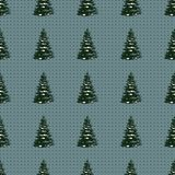 Seamless Merry Christmas Festive Pattern with Tree. Seamless Pattern of Christmas Tree, Modern  and Creative Festive Textile, Gift Wrap, Wall Art Design, Merry Royalty Free Stock Photos