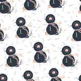 Seamless merry christmas happy new year patterns . Vector. Illustration Stock Illustration