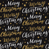 Seamless Merry Christmas pattern Royalty Free Stock Photography