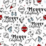 Seamless Merry Christmas Pattern Royalty Free Stock Photo