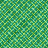 Seamless mesh diagonal pattern over green Royalty Free Stock Image