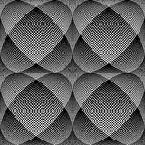 Seamless meshy op art pattern. 3D illusion. Royalty Free Stock Photos