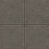 Seamless Metal Ridge Background Royalty Free Stock Photos