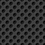 Seamless metal texture with holes Royalty Free Stock Images