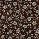 Seamless metall pattern on wooden background. Stock Photo